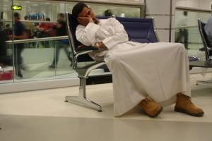 Luchthaven Qatar. Uren wachten, veel te zien.