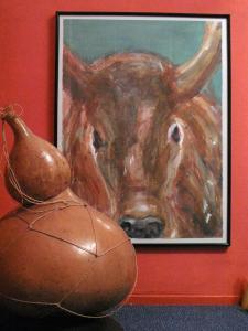 Afrikaanse Koe met melkkalabas
